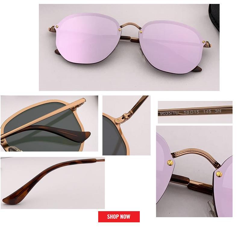 2019 أعلى مصمم أزياء المرأة الحريق نمط سداسية المسامير المعدنية خمر الكلاسيكية المسامير ماركة تصميم النظارات oculos دي سول gafas