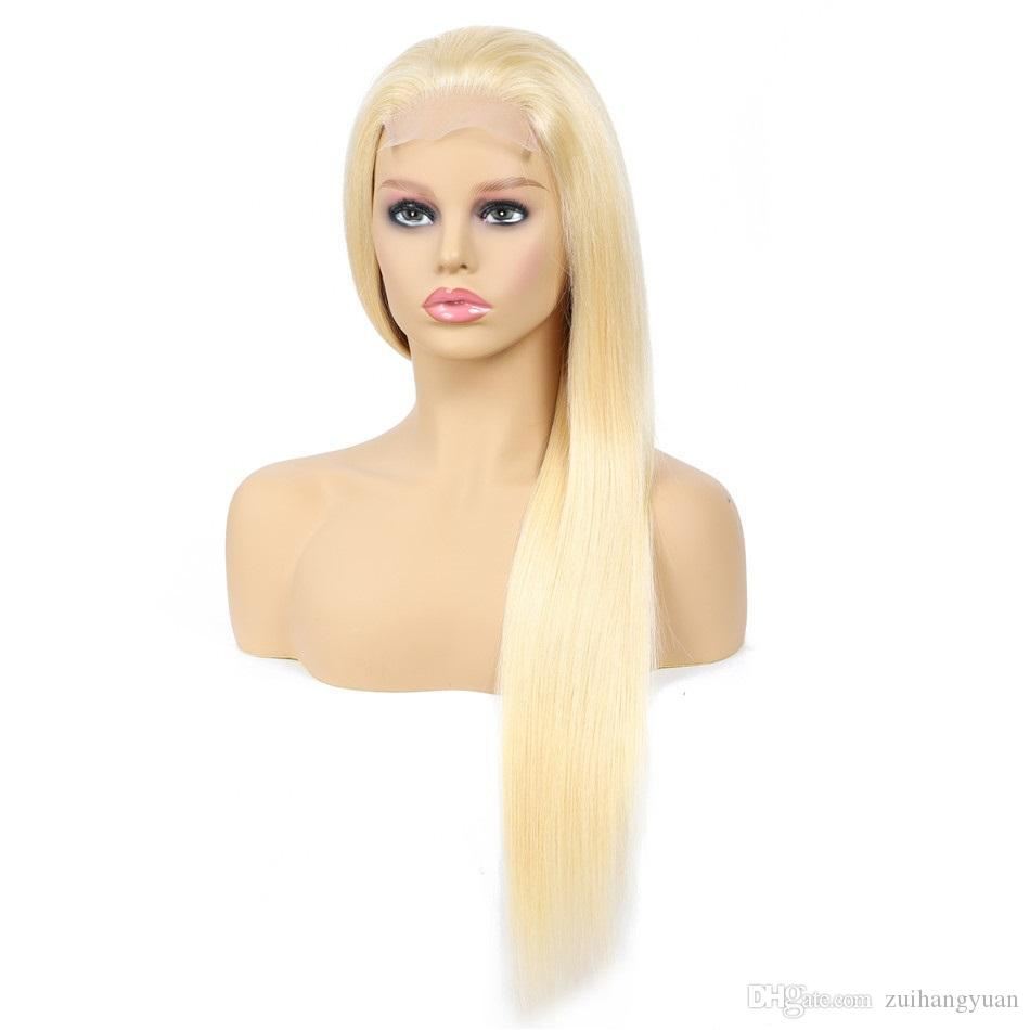 Di vendita caldo di prezzi all'ingrosso di 613 diritto di seta dei capelli umani parrucca reale Virgin brasiliano di Remy dei capelli pizzo anteriore parrucche