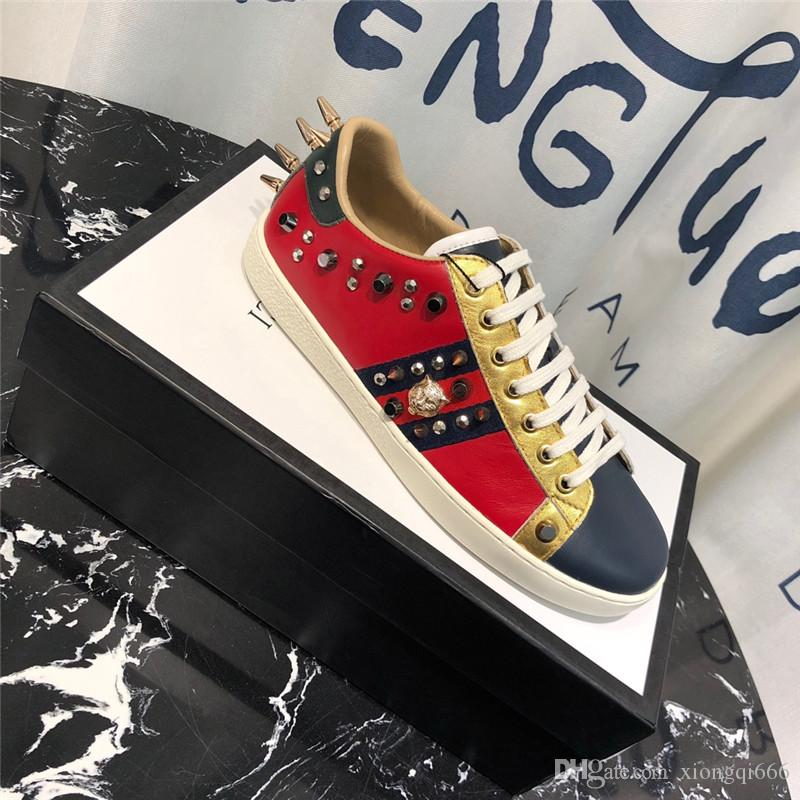 2020 Fashion Men's and Women's Casual Sneakers, Fashion Couple Ace Bee Shoes