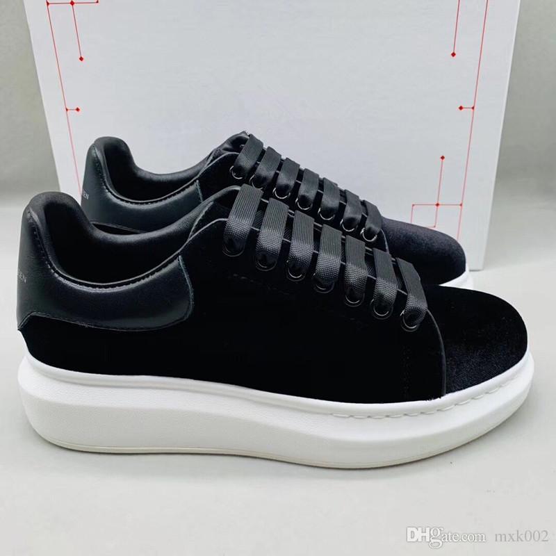 La mejor calidad de lujo designe zapatillas de deporte de gran tamaño para las mujeres del hombre zapatos de diseñador de cuero real moda casual sneaker xsd19040204
