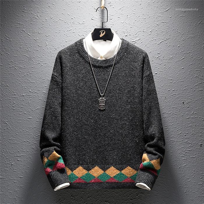 Herbst-Winter-beiläufige Pullover Langarm Rundhalsausschnitt Pullover lose Warm Männer Bekleidung Herren Designer Pullover