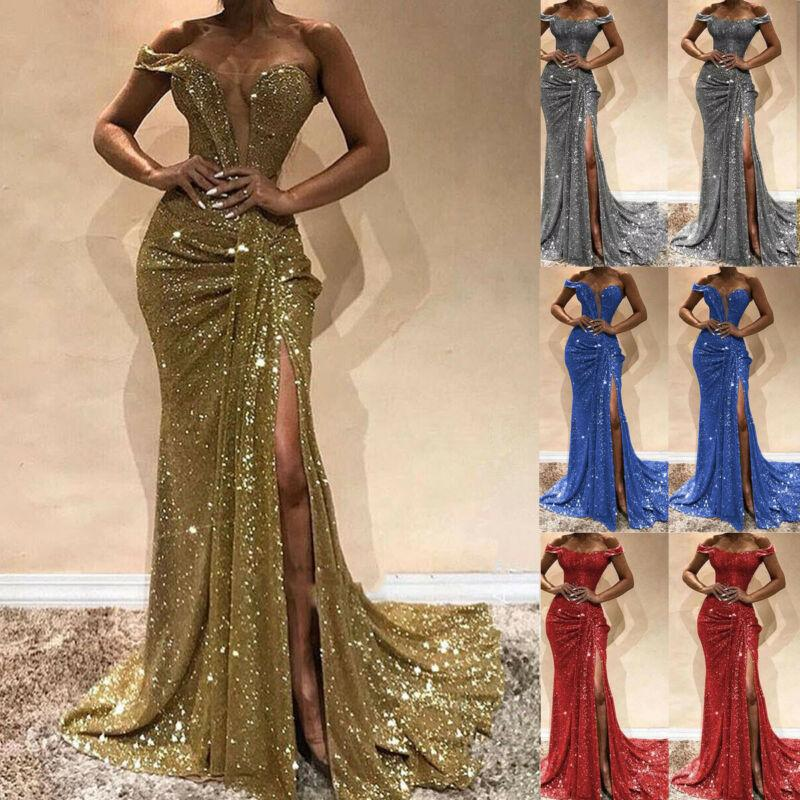 2019 Skinny New Women Summer Sexy Slim Dress Off Shoulder Casual Bandage Bodycon Evening Party Long Maxi Dress Plus Size hot