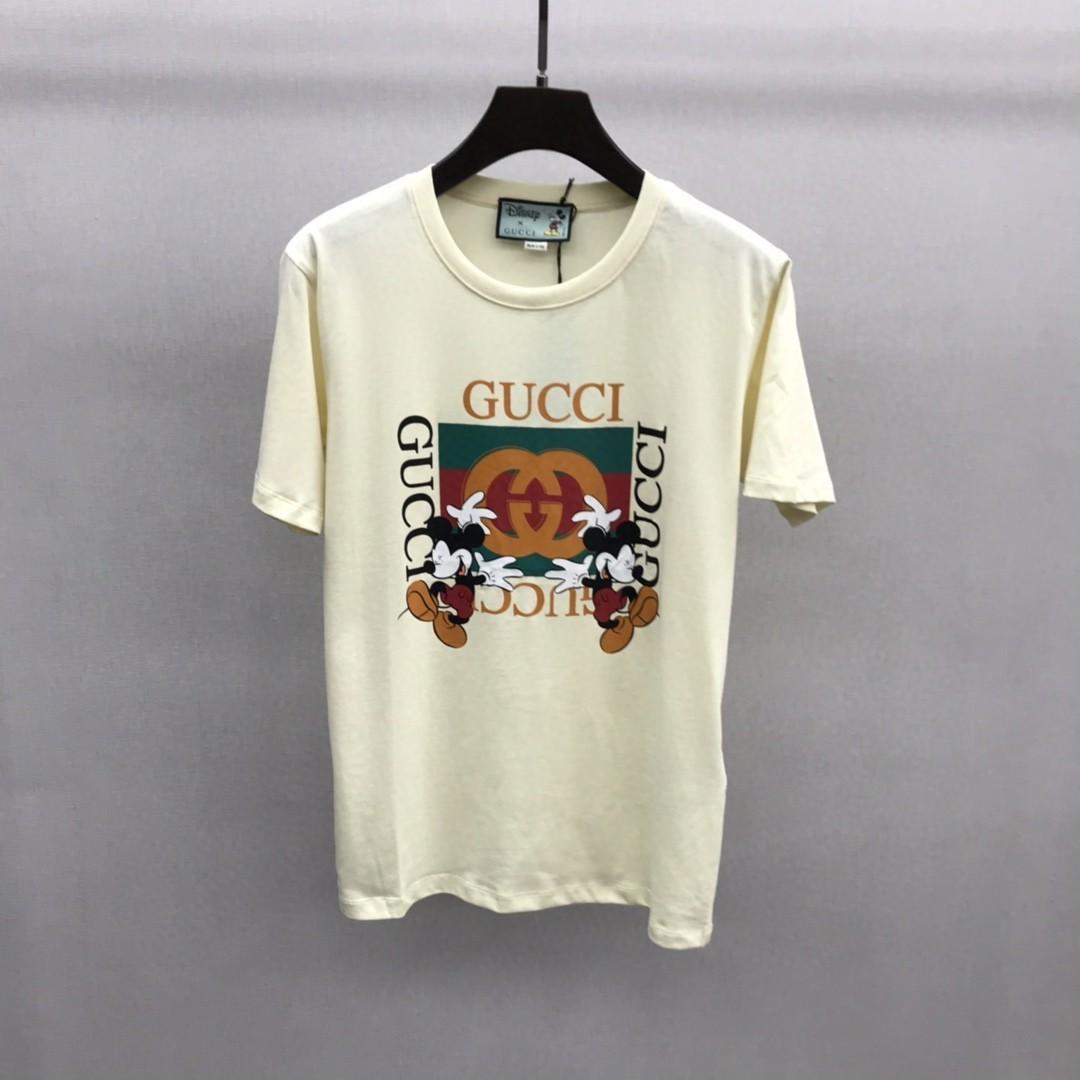2020 Europa Italia principios de la primavera y el verano la última carta impresión de la camiseta de algodón hombres y mujeres mezclados ocasionales respirable ocasional Tee suave salvaje