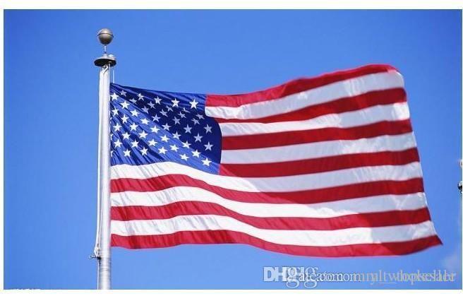 10pcs Jumbo 3x5FT Amerikan Bayrağı ABD ABD FT Polyester Kişisel Yurtseverlik 90cmx150c kapalı Proud göster Be