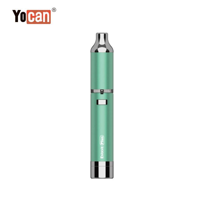 Authentic Yocan Evolve Plus Wax Vaporizer Pen 1100mAh Battery Quartz Dual Coil QDC Vape Pen Kits Dry Herb Vaporizer Oil Wax Atomizer