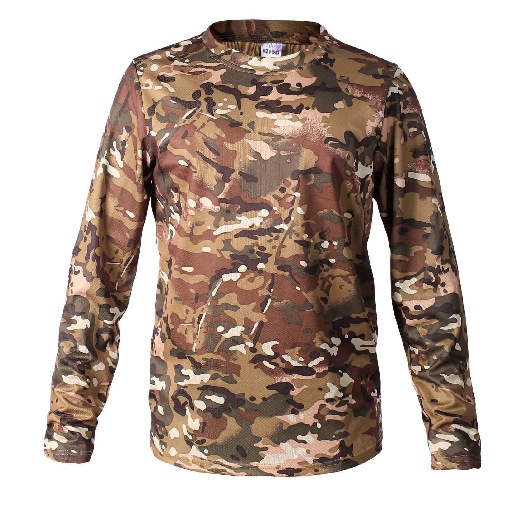 مصمم قمصان الرجال بيونيك التمويه الصيد الرجال تي شيرت تنفس شبكة بأكمام طويلة للالبسة فاخرة الصيد التخييم المشي لمسافات طويلة