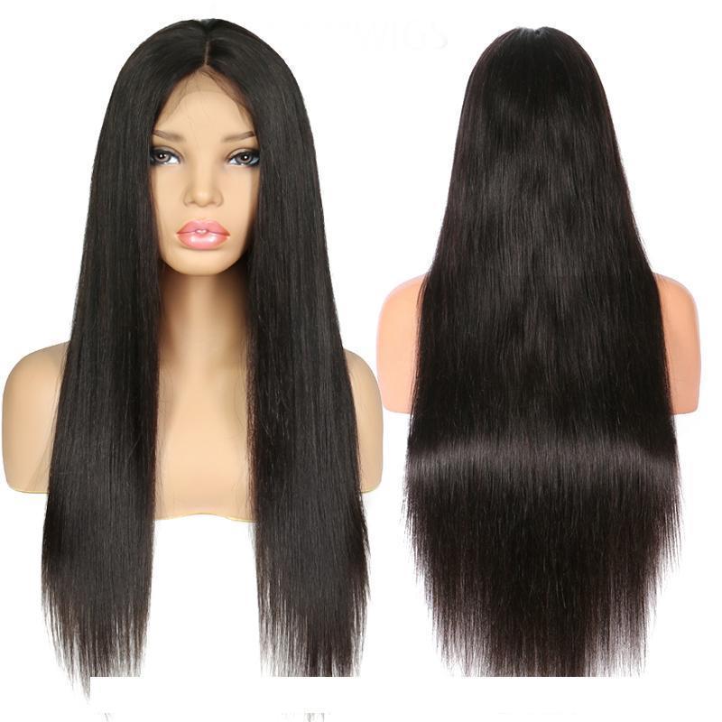 360 кружева фронтальный парик бразильские девственные волосы прямые 360 полные кружевные фронтальные волосы волосы предварительно сорваны волосами ребенка