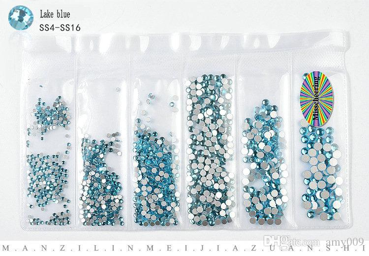 Nagelkunstdekoration der swarovski Element-Kristall-Diamant-Serie Bohrer SS4-SS16 Einzigartige 14 Kristall Gesicht Maniküre Bohrer 20pcs Großhandel