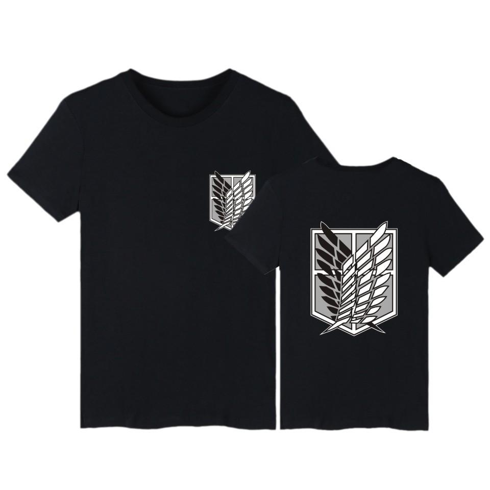 Ataque em Titan camiseta anime plus size cobre T verão encabeça homens Short manga camiseta meninos de banda desenhada streetwear camiseta roupas MX200509