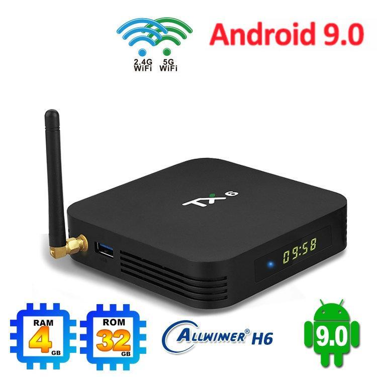 1 Piece !! TX6 4GB 64GB Android 9.0 OTT TV Box Dual Wifi 2.4+5G Allwinner H6 BT5.0 Better Than X96 miniTX3