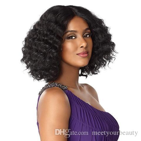 new this hairstyle 8a brazilian Hair short bob kinky curly wig simulation human hair Shoulder length kinky curly wig in stock