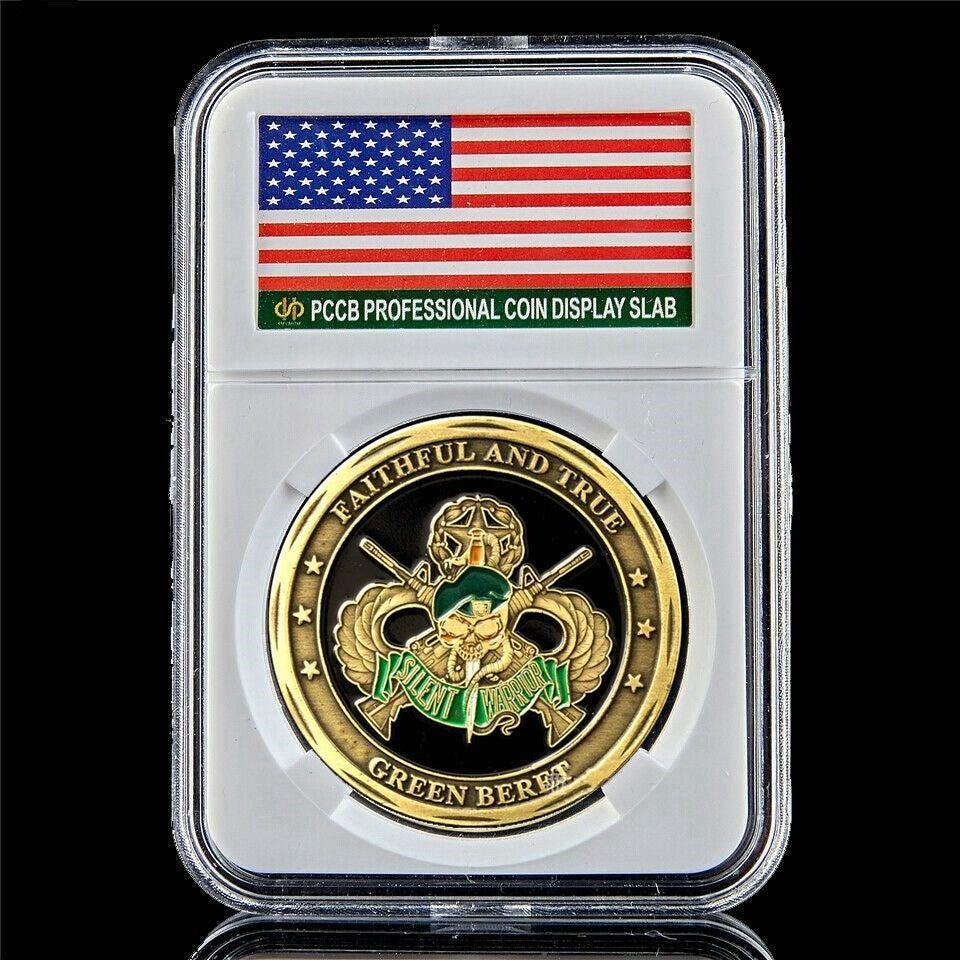Le truppe americane pirata fucile da cecchino US Army Sfida 1 oz Gold Plated moneta W / PCCB Box
