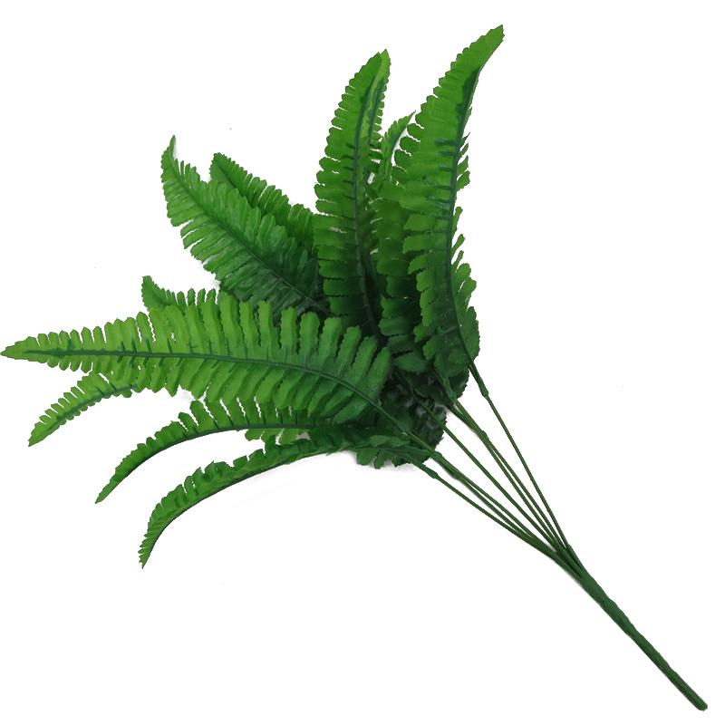 7 Forks Artificial Green Fern Grass Small Persian Leaves Plants Fake Leaf Wall Hanging Plastic Bonsai Home Garden Decoration