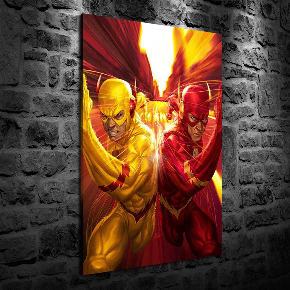 Flash, Impression toile HD Nouvelle Maison Décoration Art Peinture / (Unframed / encadré)