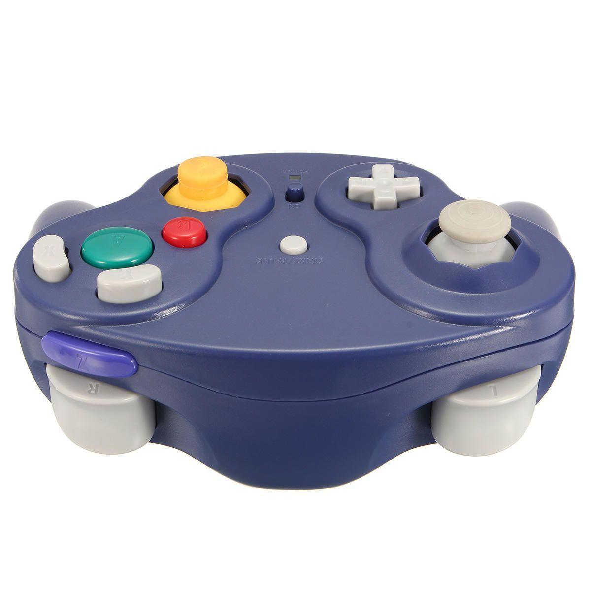 2.4Ghz Kablosuz Denetleyici Oyun Gamepad Nintendo Gamecube NGC Wii - Mor Bir