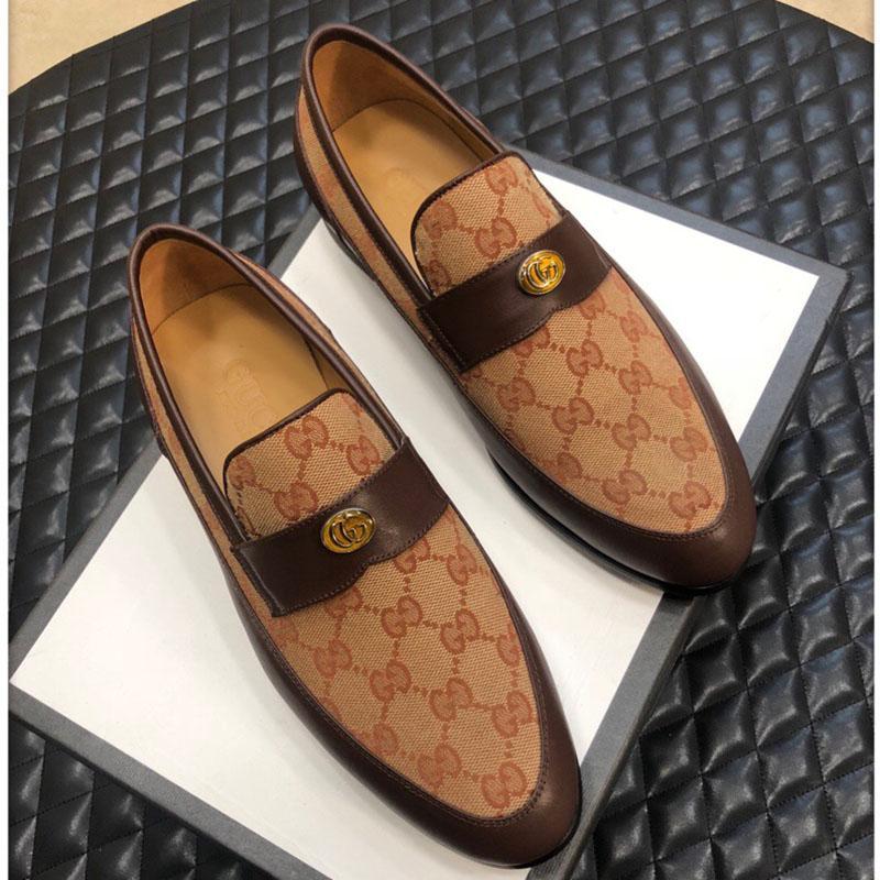 Alta qualidade preguiçoso sapatos de moda de luxo sapatos de homem vestido festa de casamento casuais clássico shoess gravado couro sapatos da moda tamanho 38-45