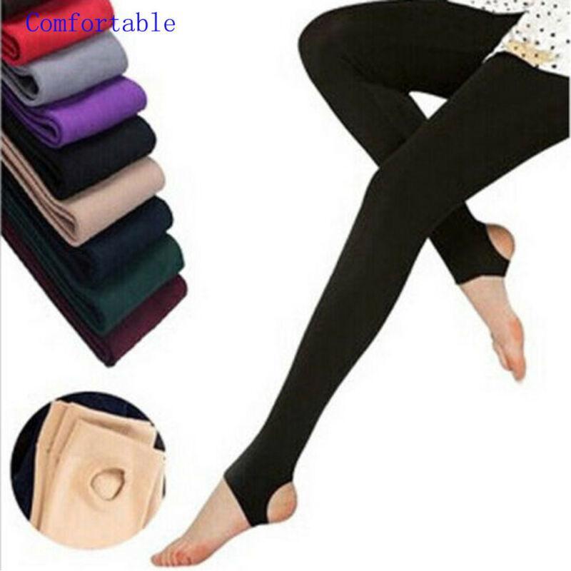 Le donne Plus Size Solid Leggings Stretch lungo Figura intera solidi ghette di stirata Stock Lady