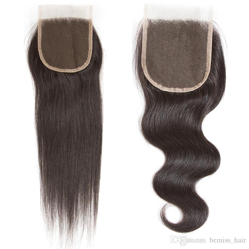 5X5 4X4 Closure with Brazilian Virgin Hair Bundles Straight Body Wave Human Hair Wefts with 6x6 7x7 Closure Peruvian Malaysian Extensions