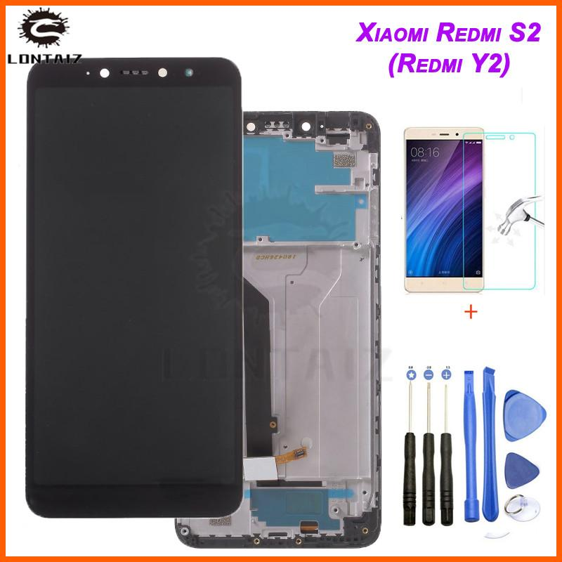 for Xiaomi Redmi S2 LCD Display with Frame Screen Touch Digitizer LCD Display for Redmi Y2 TouchScreen 10 Touch Point Parts