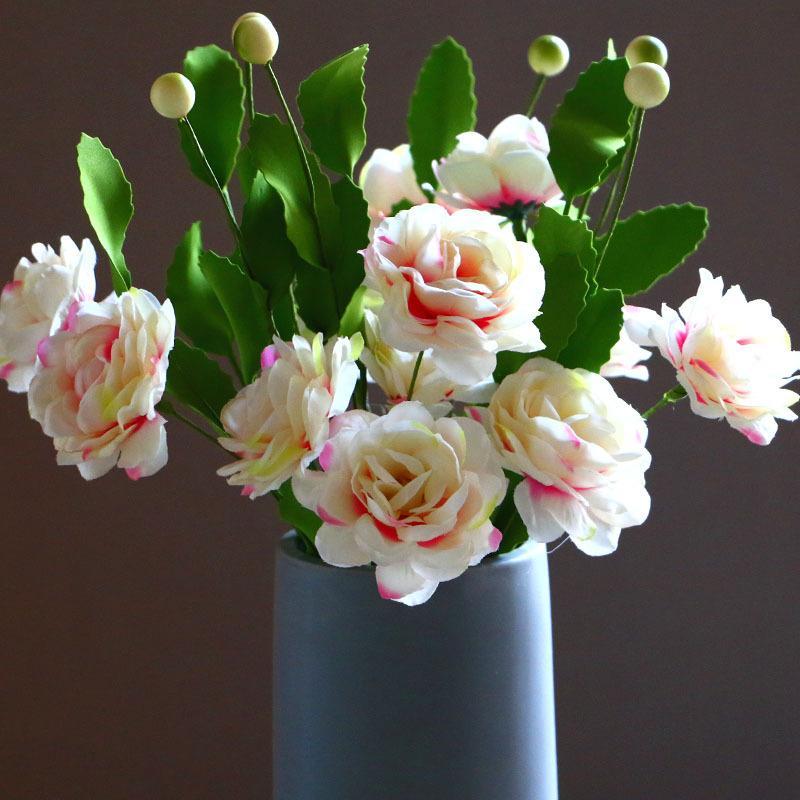 5-piece L'alta simulazione doppio vero capo di tocco falso Rosa Fiore Casa di seta decorazione del salone