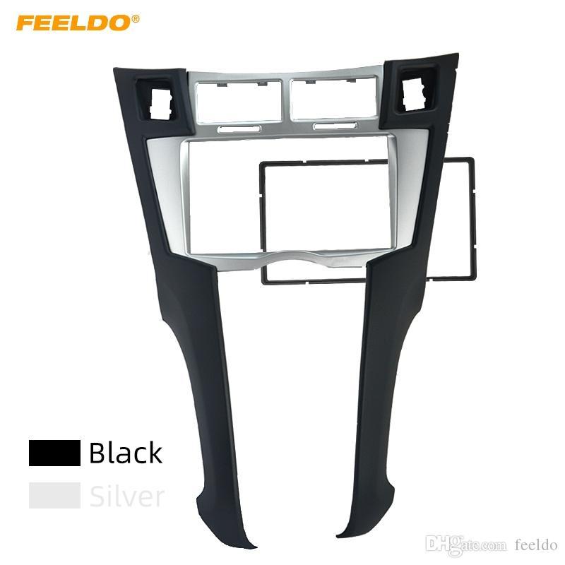 FEELDO Car 2DIN Refitting Radio Stereo DVD Frame Fascia Dash Panel Installation Kits Conversion For For Toyota Yaris,Vitz,Platz #2215