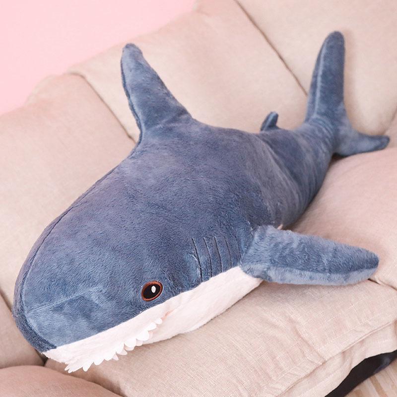 Nooer 80cm 100cm Plüschtiere Stofftier Hai Kinder Kinder Spielzeug Jungen Kissen Mädchen Tier Lesekissen für Geburtstags-Geschenke Y200111