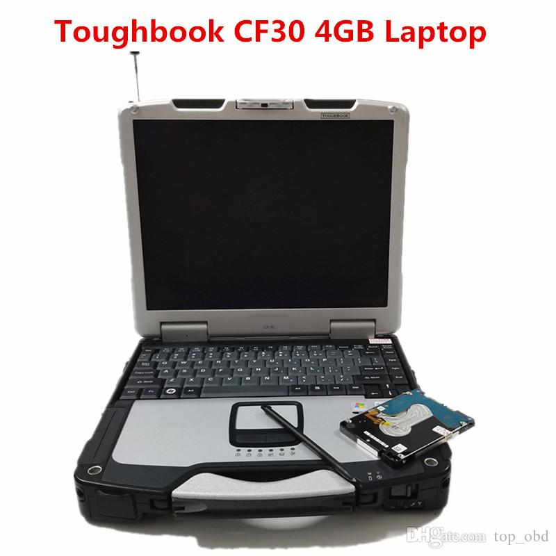 Toughbook CF30 laptop auto diagnostic computer Toughbook cf30 4GB laptop can work for alldata and m...ell soft-ware mb star C5 ICOM A2