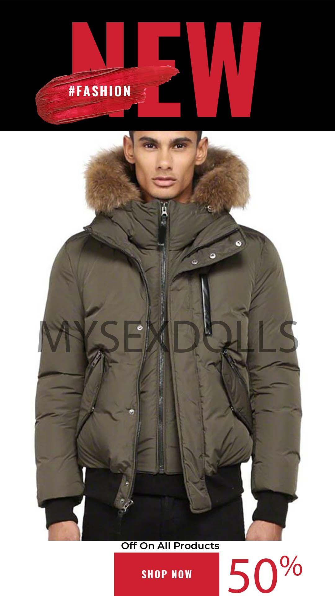 Top para hombre abrigos de invierno Canadá Parkas OuterWear con capucha Manteau Slim Big Real Piel de la chaqueta abajo