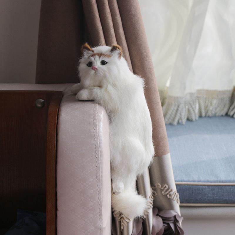 لطيف القط القطيفة فن الحلي تمثال الرئيسية مكتب TV شنقا هدايا ألعاب القط محاكاة الشكل تمثال ديكور المنزل الحرف