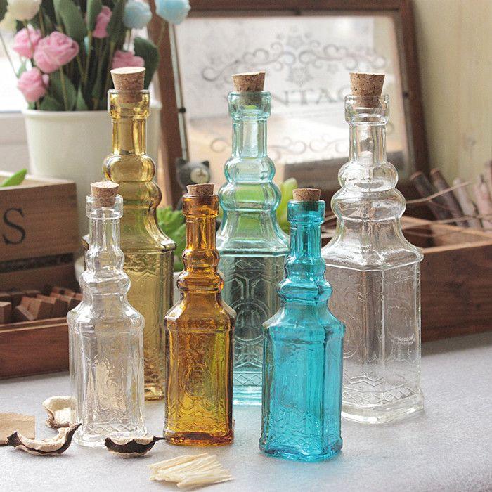 خمر صغير منحوت زجاج زهرية زهرية برج للديكور المنزل صور الدعامة خمر زجاج زجاجة خضراء النبات زهرة المزهريات