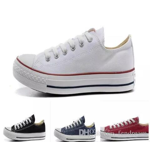2019 الأعلى كلاسيكي conve1s2e حار بيع للجنسين الرجال النساء اللباس قماش الأحذية المنخفضة أعلى الكبار المزينة يصل الاحذية حذاء رياضة