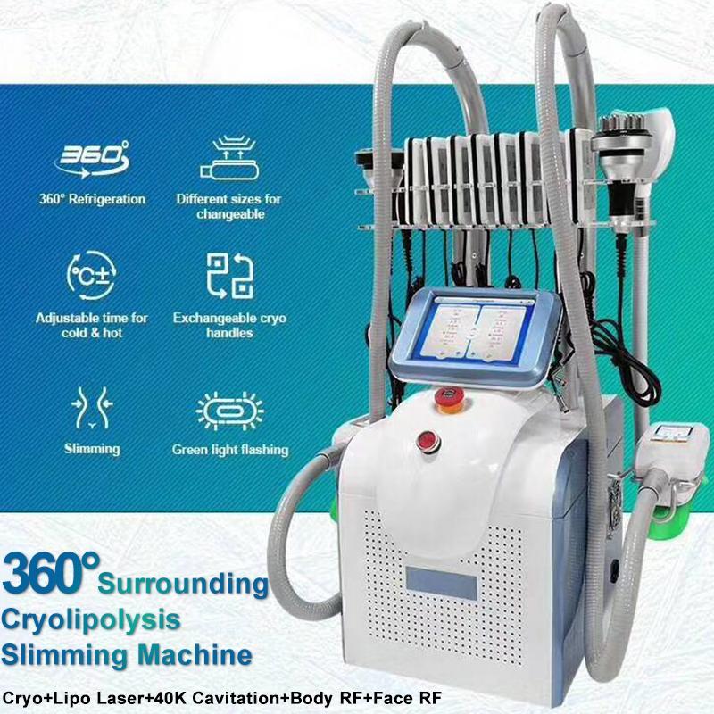 2020 Fett Einfrieren Maschine Cryolipolysis rf Kavitation Maschinen Lipo Fett Einfrieren Vakuum abnehmen Schönheit Ausrüstung Klinik Salongebrauch
