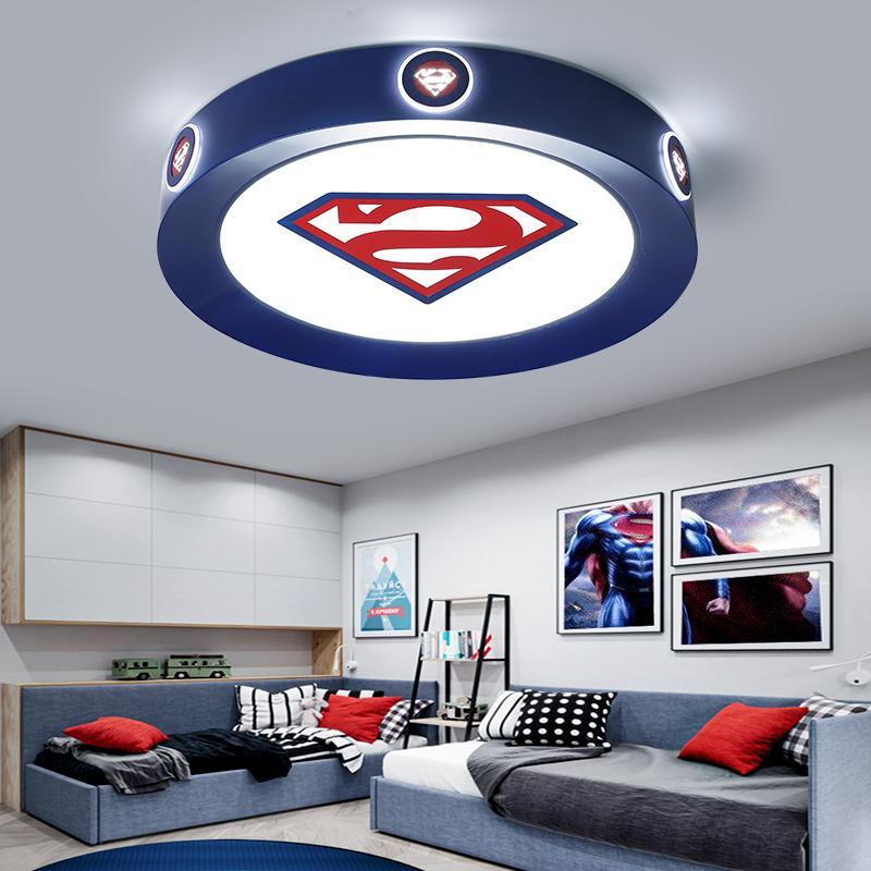 Moderne LED-Deckenleuchte Kinder Raum rosa blaue runde Lightis für Kinder Baby-Schlafzimmer-Haus dekorative Deckenleuchte Beleuchtung
