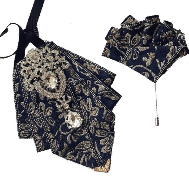Erkek yaka çiçek broş Kore beyefendi stilist ev sahibi ziyafet elbise düğün papyon
