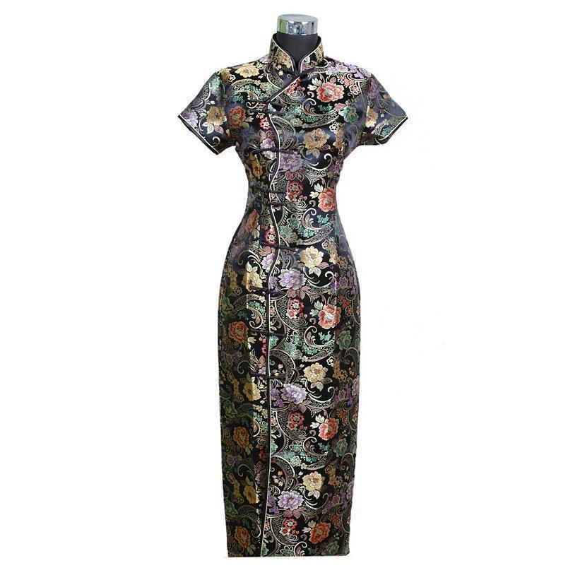 Crazy2019 팝 중국어 번체 여성의 긴 드레스 Qipao 청삼 웨딩 이브닝 드레스 크기 S M L XL XXL XXXL C0001