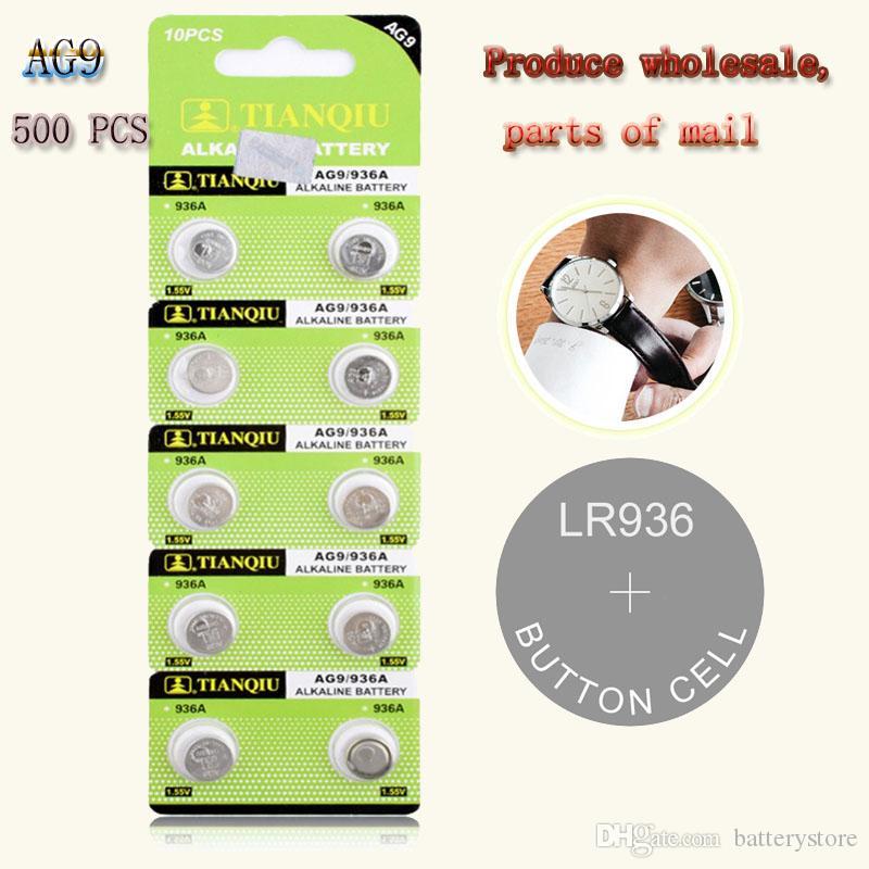 500 PCS مصنع المصدر لأسعار الجملة AG9 1.55V ووتش زر البطارية 394 L936 LR45 194 تركيب بطاقة إلكترونية ليثيوم زر البطارية