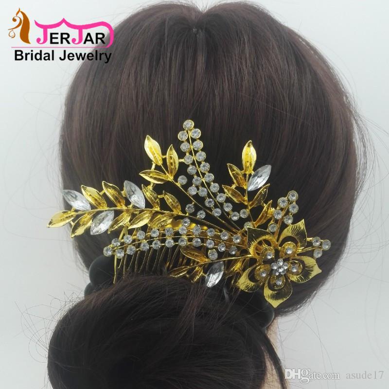 Damen Metall Haarkamm Haarschmuck Braut Hochzeit Kopfschmuck Seite Kamm Haar