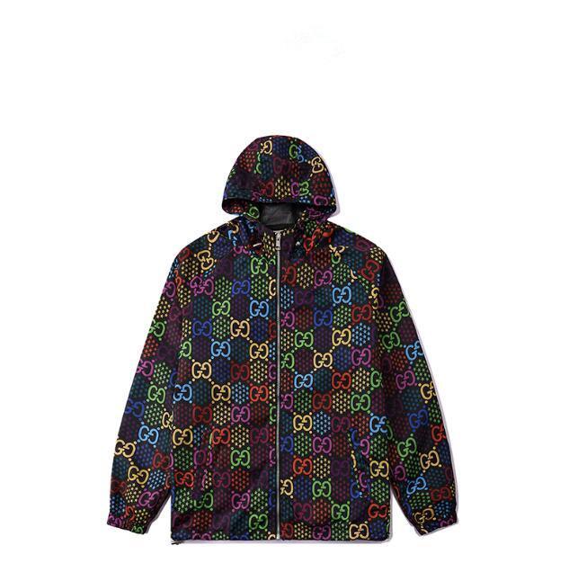 Vendita calda giacca a vento manica lunga con cappuccio Mens Jackets Abbigliamento Zipper Lettera di modello Plus Size Clothes