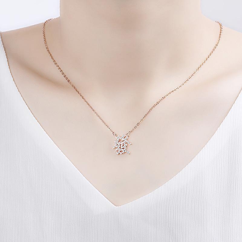 Afortunado chinês-iniciais Carta riqueza Colar Good Luck-Amizade Sonhos colar de cristal de presentes jóias pingente Bijoux