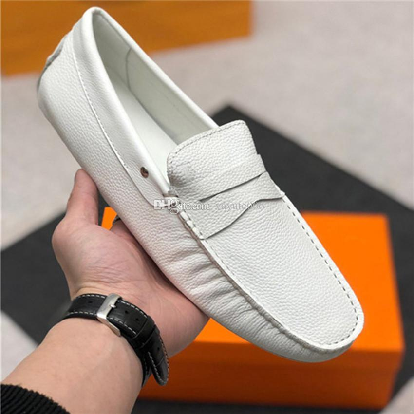 Moccasins Gommino Leather Driver brand Loafer Slipper Men Casual Driving Business Autumn Luxury Shoes with box