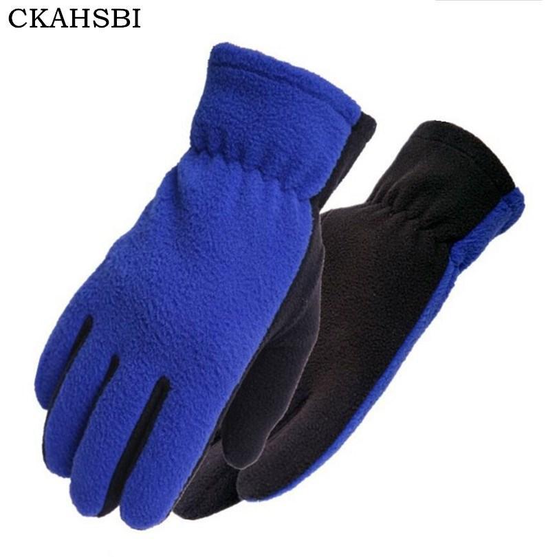 قفازات CKAHSBI دراجات تزلج الرجال النساء الشتاء في الهواء الطلق حافظ قفازات التزلج الحارة الرياضة دافئ الصوف منخفضة درجة الحرارة تسلق القفاز