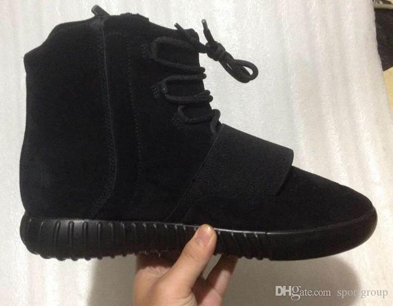 Boost 750 Light Grey Gum Glow brown black Kanye West Shoes 750 Boost Basketball Shoes Sports Kanye West Leather Ankle Boots