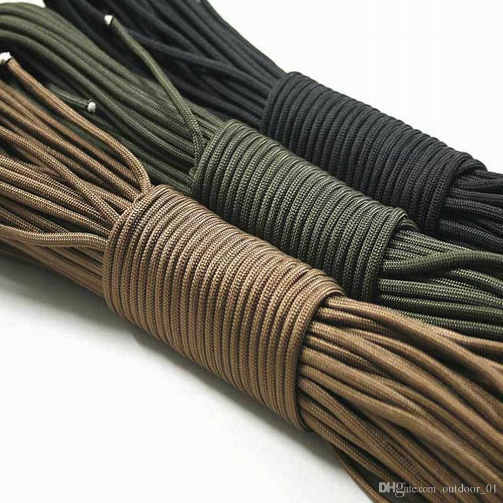 550 parachute de type spécification Mil corde à corde III 7 brins 100ft 31 mètres alpinisme équipement de survie de camping corde d'escalade