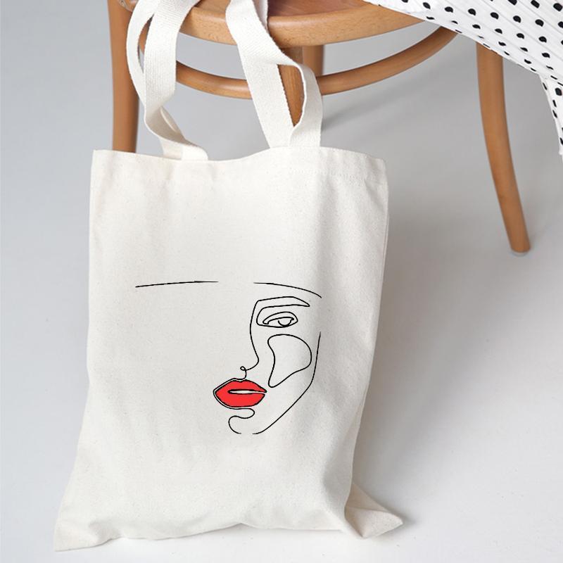 Eco Bag Bolsos de hombro Tote Girls Graphic Estudiantes Estética Moda Reutilizable Bolso plegable Tumblr Mujeres Bolsa de lona MHBIX