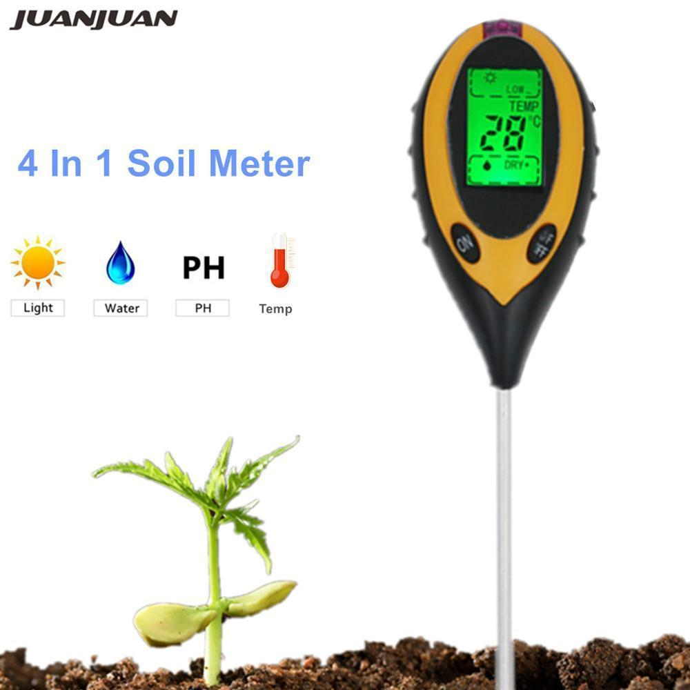 3 in1 PH Garden Soil Tester Professional LCD Temperature Moisture Sunlight Meter