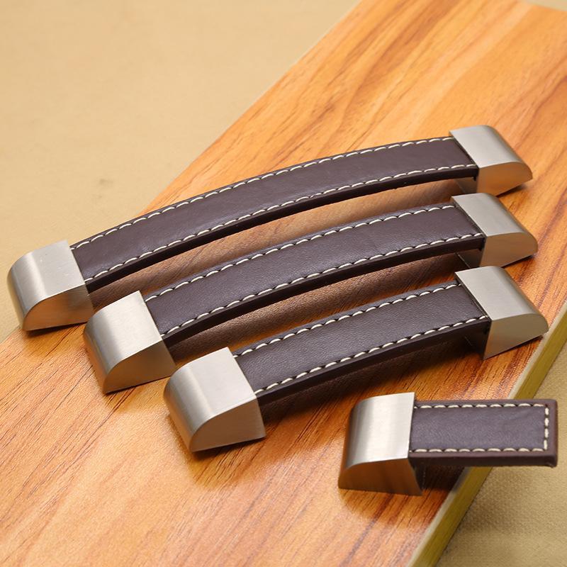 5 stücke Handgefertigte Leder Griff Zieht Knob Koffer Küchenmöbel