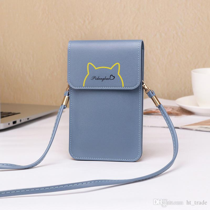 Kadınlar için 100 ADET DHL yeni tek omuz çantası basit bayan çanta için cep telefonu çantası ekrana dokunabilirsiniz Çapraz vücut çanta hediye