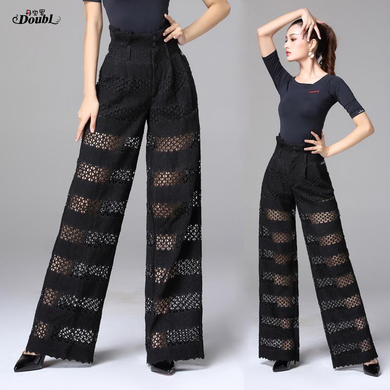 2018 pantalones de baile de salón de lady Tango Vals trajes de baile de las mujeres de la competencia de baile de salón pantalones DB825