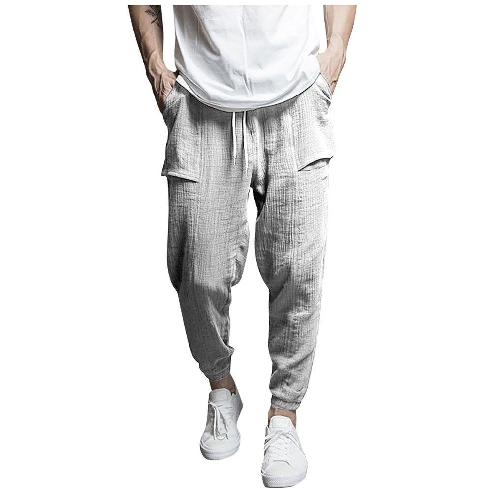 Casual Pants for Men,Men Pocket Overalls Casual Pocket Sport Work Casual Trouser Pants