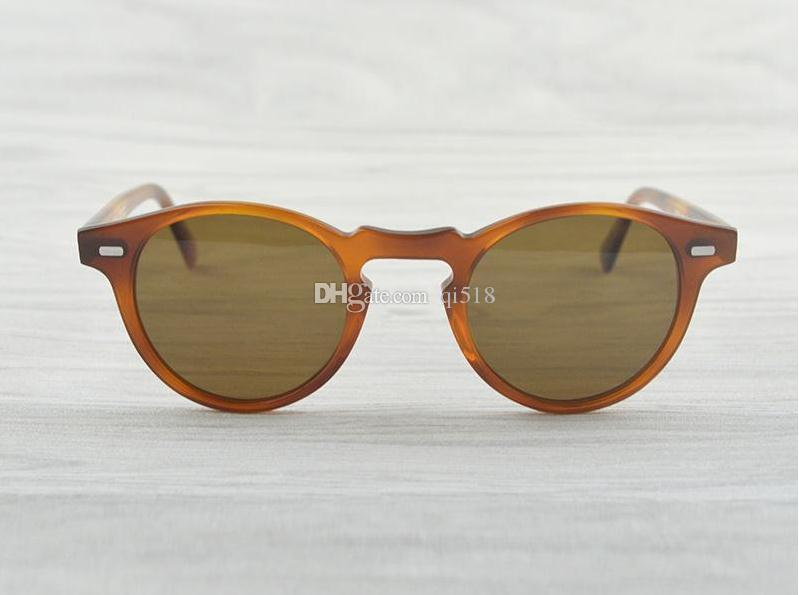 Gregory Peck Marke Designer 45mm 47mm Männer Frauen Sonnenbrille oliver Weinlese polarisierte Sonnenbrille Völker OV5186 retro Sonnenbrille OV 5186